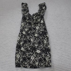 Hollister Black and Cream Floral Dress Size S